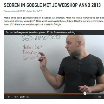 Scoren in Google met je shop anno 2013